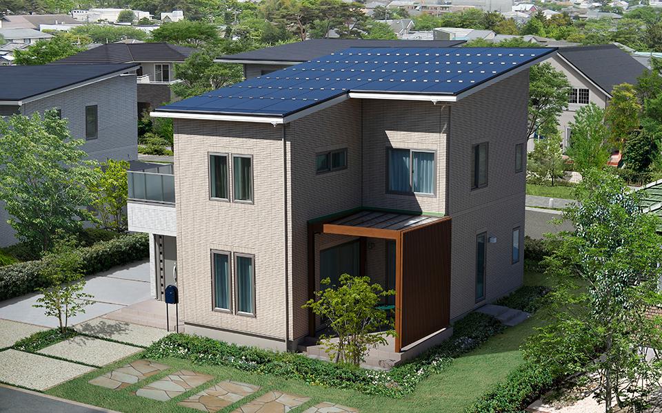 楽しむ子育て住宅、明るくオープンな間取りの家。