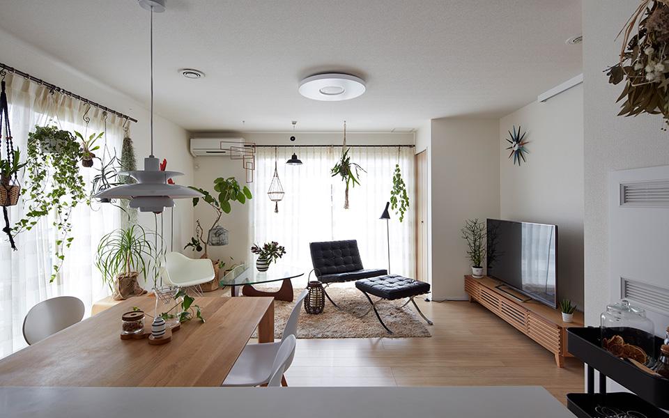 家具や植物が映える、センスを存分に活かせる家。